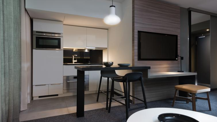 Kitchen at Adina Apartment Hotel Hamburg Speicherstadt - Citybase Apartments