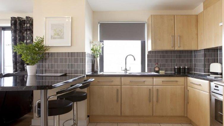Stylish kitchen in The Cheltenham Plaza Apartments - Citybase Apartments