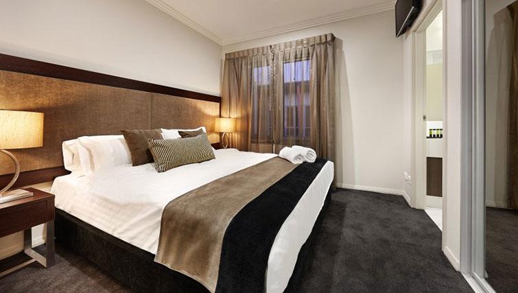 Bedroom at Attika Apartments - Citybase Apartments