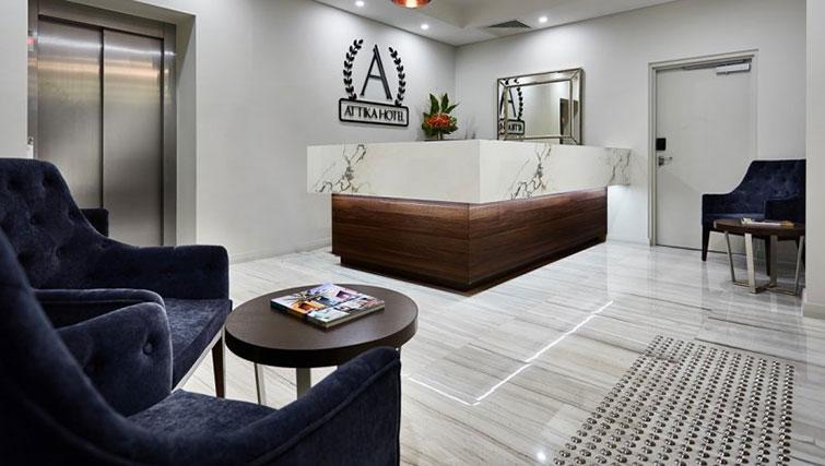 Lobby at Attika Apartments - Citybase Apartments