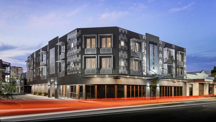 Exterior of Attika Apartments - Citybase Apartments