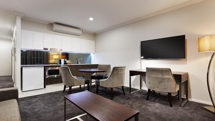 Dining area at Attika Apartments - Citybase Apartments