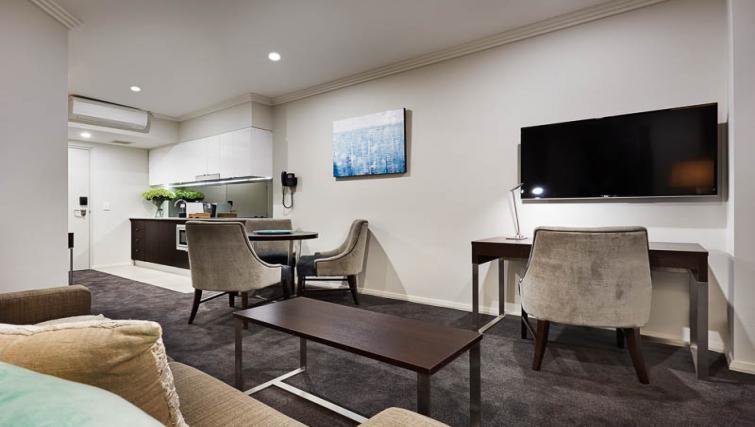 Open-plan living at Attika Apartments - Citybase Apartments