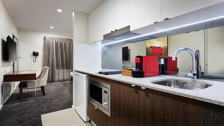 Kitchen at Attika Apartments - Citybase Apartments