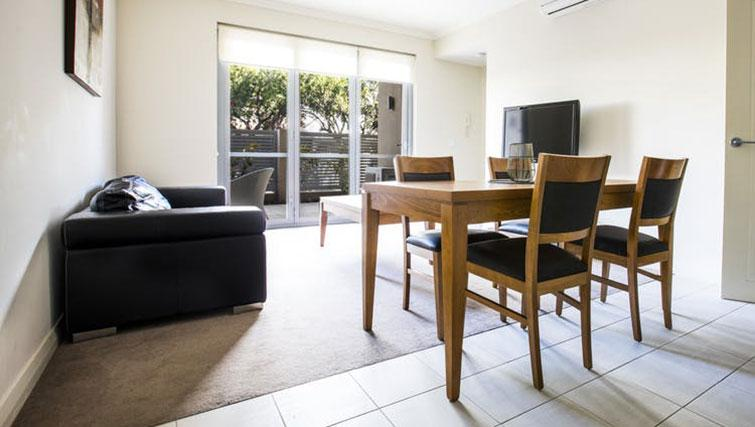Living area at Zappeion Apartments - Citybase Apartments