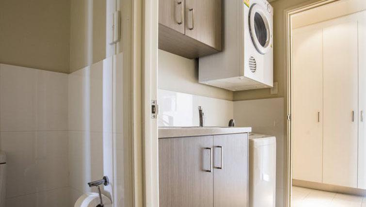 Laundry facilities at Zappeion Apartments - Citybase Apartments