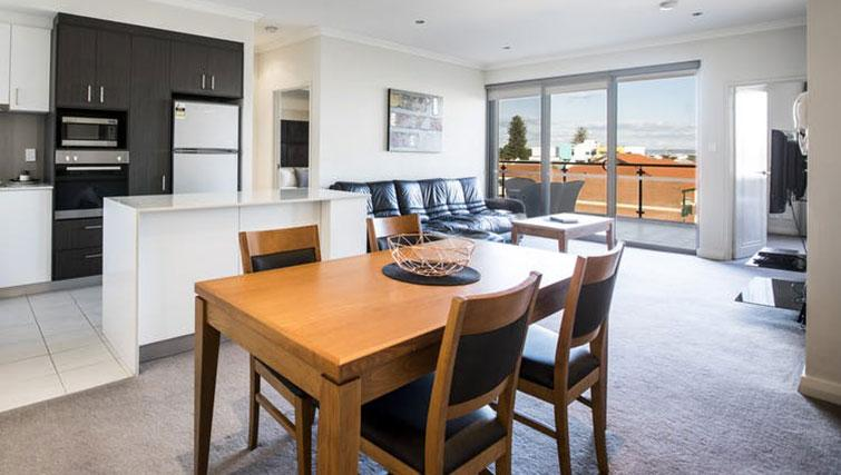 Dining area at Zappeion Apartments - Citybase Apartments
