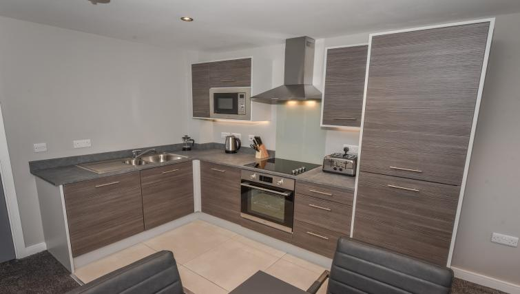 Kitchen at the Dream Apartments Lisburn Road - Citybase Apartments