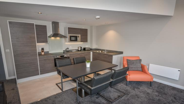 Dining area at the Dream Apartments Lisburn Road - Citybase Apartments