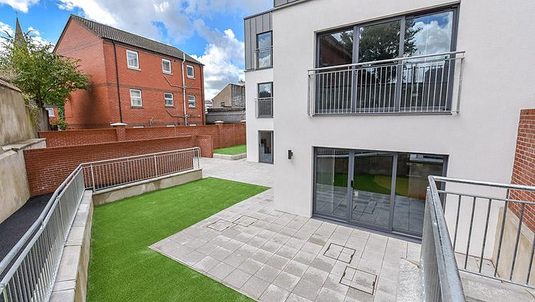 Garden at the Dream Apartments Lisburn Road - Citybase Apartments