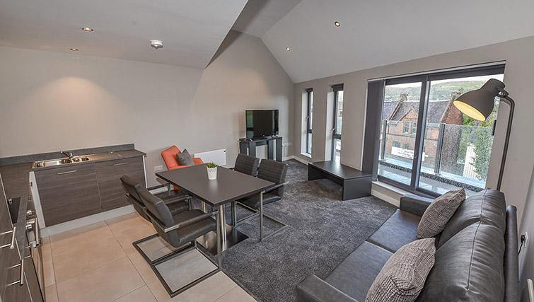 Bright living area at Dream Apartments Lisburn Road - Citybase Apartments