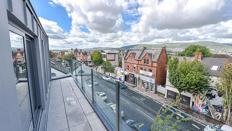 View from the Dream Apartments Lisburn Road - Citybase Apartments
