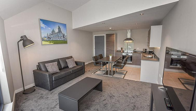 Lounge at the Dream Apartments Lisburn Road - Citybase Apartments