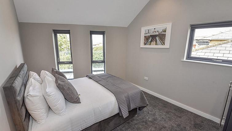 Bright bedroom at Dream Apartments Lisburn Road - Citybase Apartments