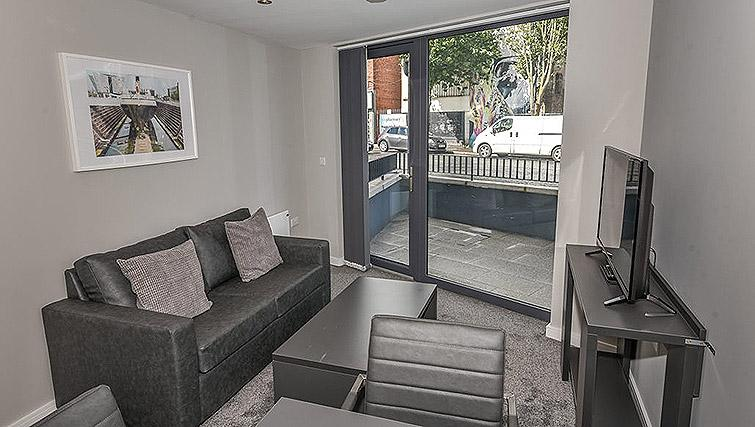 Living space at Dream Apartments Lisburn Road - Citybase Apartments