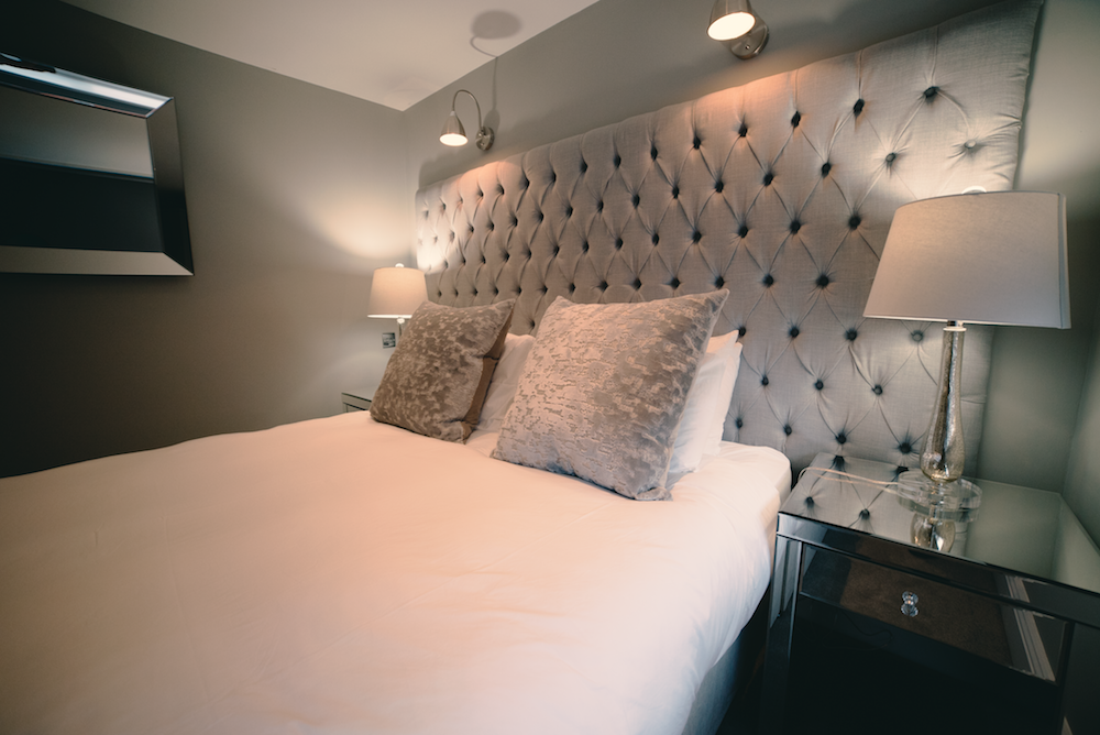 Silver bed at Theatre Street Apartments, Centre, Preston - Citybase Apartments