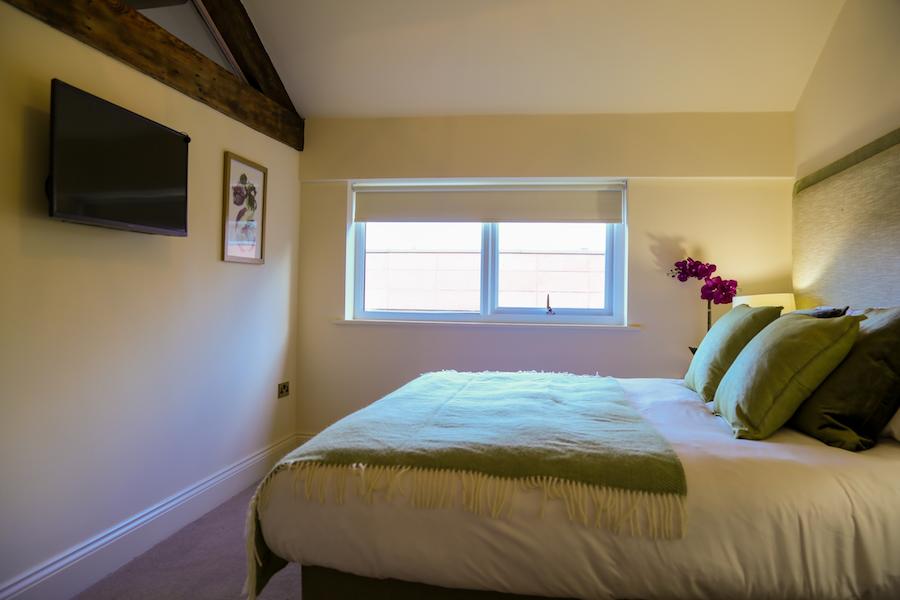 Bright bedroom at Theatre Street Apartments, Centre, Preston - Citybase Apartments