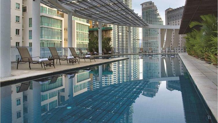 Swimming pool at Ascott Kuala Lumpur No 9 Apartments - Citybase Apartments
