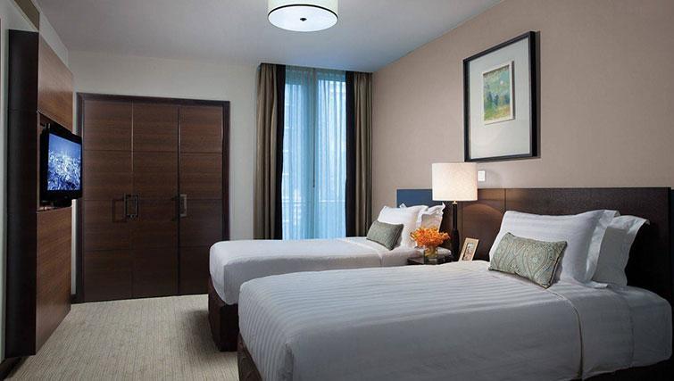 Twin beds at Ascott Kuala Lumpur No 9 Apartments - Citybase Apartments