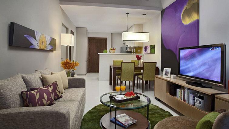 Living area at Somerset Kuala Lumpur Apartments - Citybase Apartments
