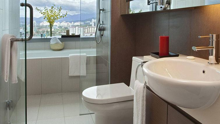 Bathroom at Somerset Kuala Lumpur Apartments - Citybase Apartments
