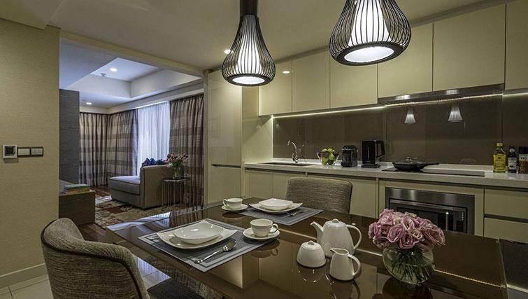 Dining area at Ascott Sentral Kuala Lumpur Apartments - Citybase Apartments
