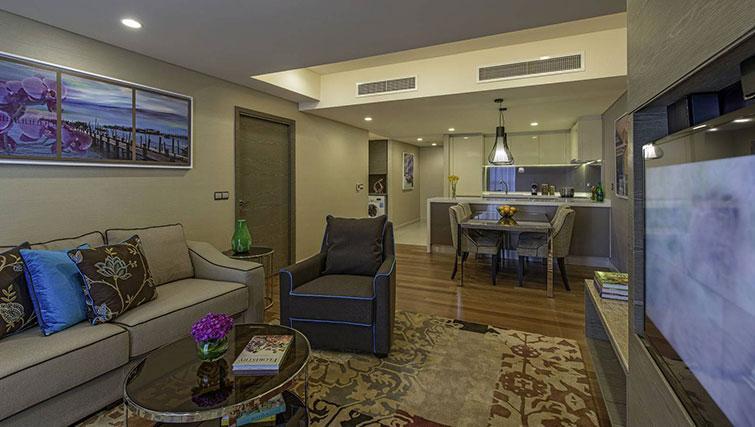Living area at Ascott Sentral Kuala Lumpur Apartments - Citybase Apartments
