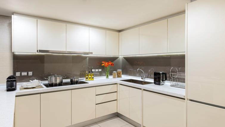 Kitchen at Ascott Sentral Kuala Lumpur Apartments - Citybase Apartments