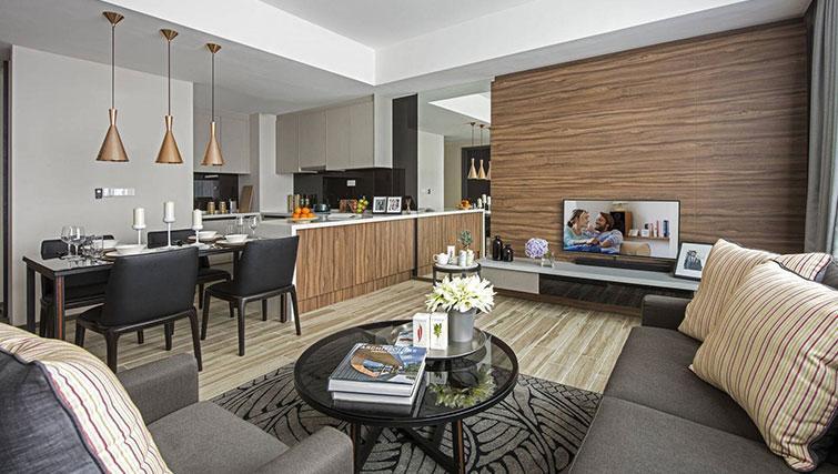 Living area at Ascott Somerset Damansara Uptown Apartments - Citybase Apartments
