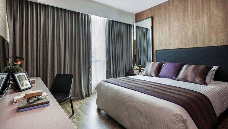 Bedroom at Ascott Somerset Damansara Uptown Apartments - Citybase Apartments