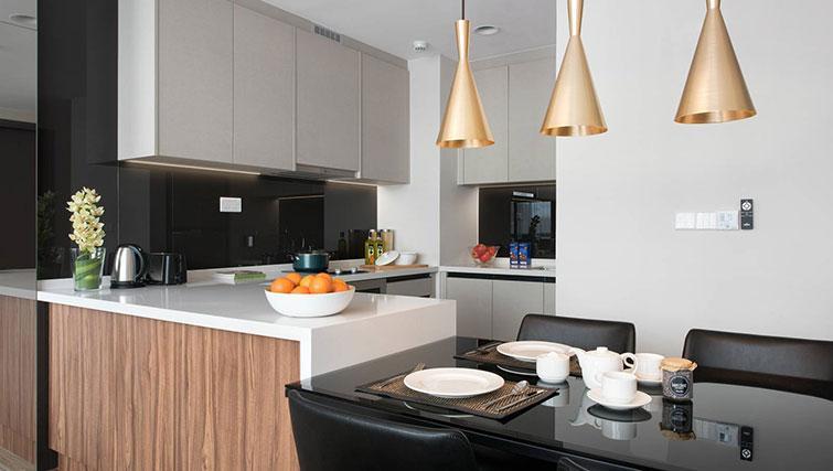 Kitchen at Ascott Somerset Damansara Uptown Apartments - Citybase Apartments
