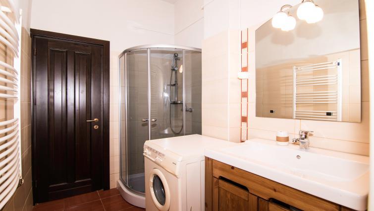 Washing machine at Calea Victoriei Apartment - Citybase Apartments