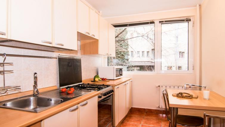 Kitchen at Balcescu Apartment - Citybase Apartments