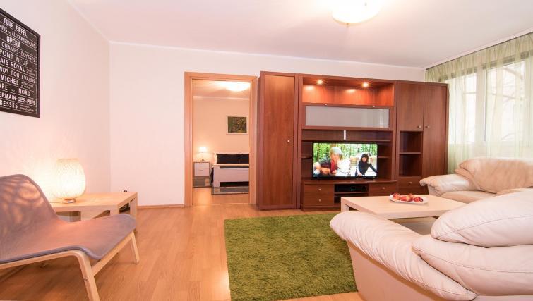 Living area at Balcescu Apartment - Citybase Apartments