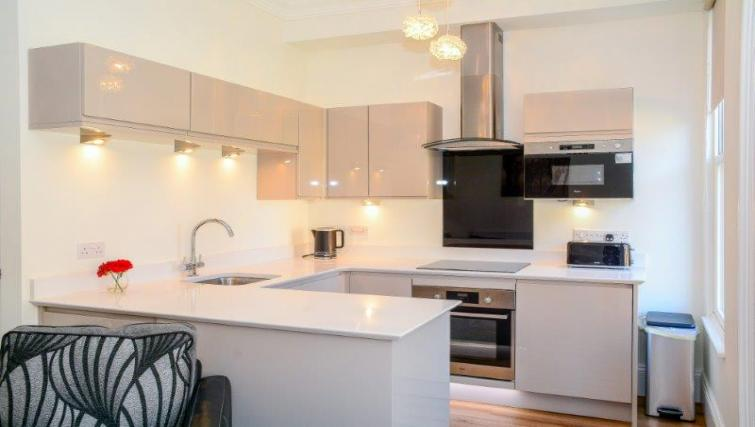 Modern kitchen at Blue Bridge Apartments York - Citybase Apartments