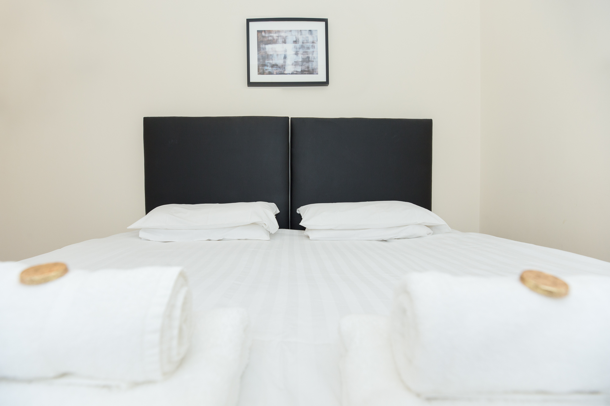 Spacious bed at Sunderland Road Apartments - Citybase Apartments