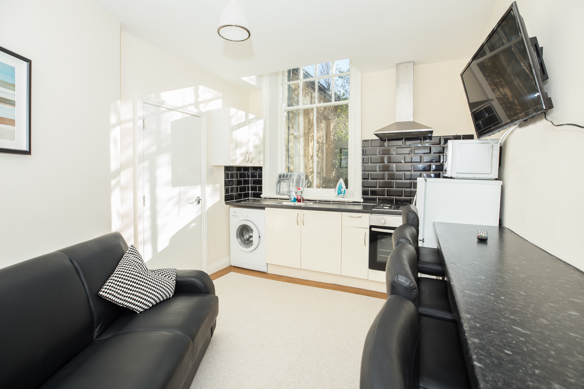 Bright living area at Sunderland Road Apartments - Citybase Apartments