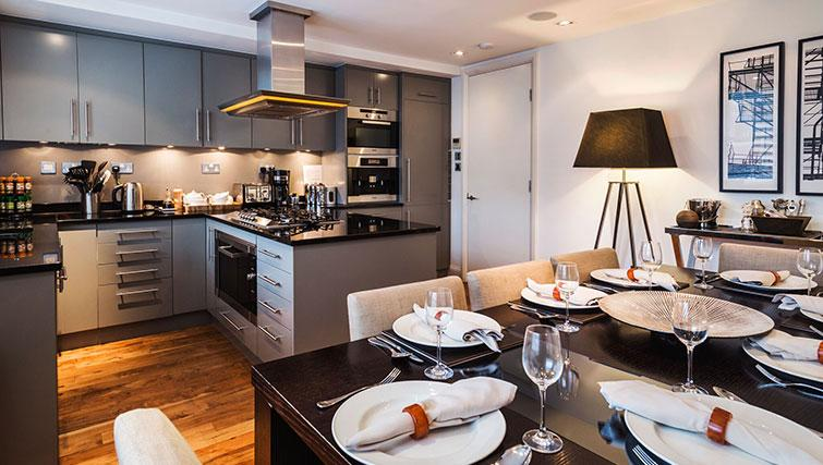 Kitchen at St. James' Street Apartment - Citybase Apartments