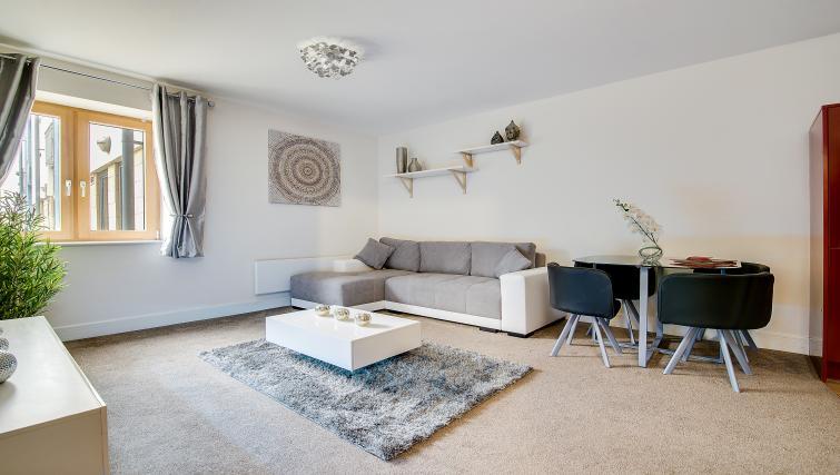 Sofa at The Mailbox Apartment - Citybase Apartments