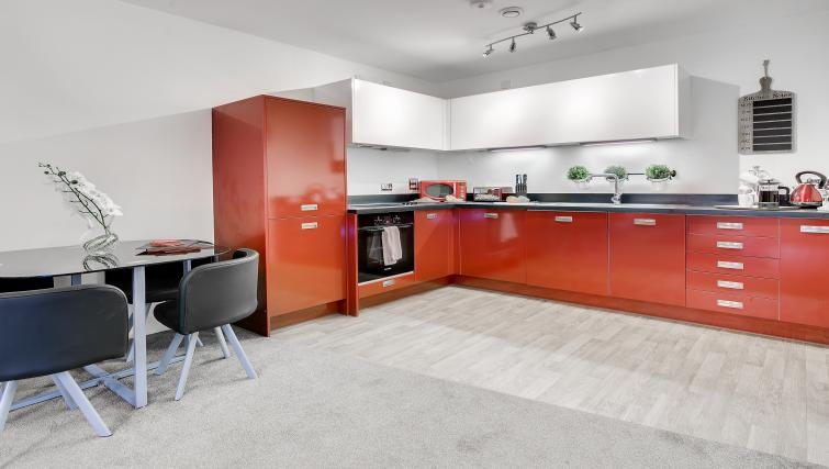 Kitchen at The Mailbox Apartment - Citybase Apartments