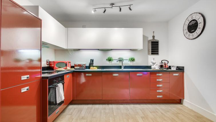 Equipped kitchen at The Mailbox Apartment - Citybase Apartments