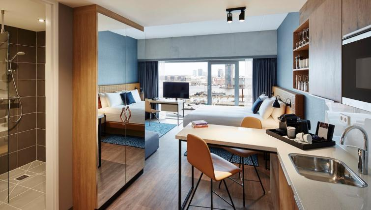 Modern living area atResidence Inn Amsterdam Houthavens - Citybase Apartments