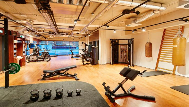 Gym at the Residence Inn Amsterdam Houthavens - Citybase Apartments
