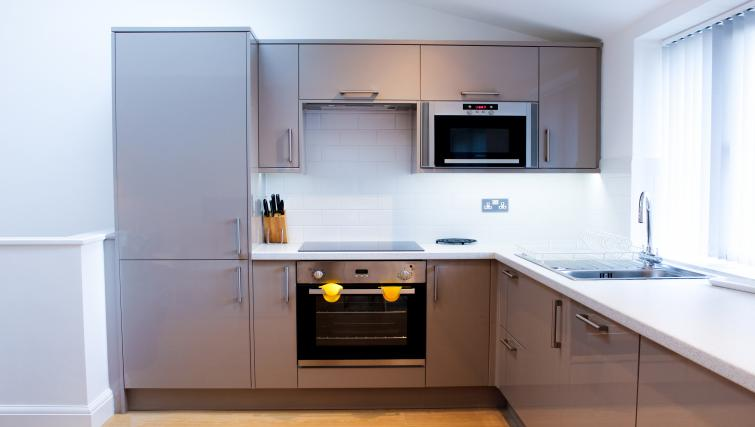 Kitchen area at the Flying Butler West Finchley Apartments - Citybase Apartments