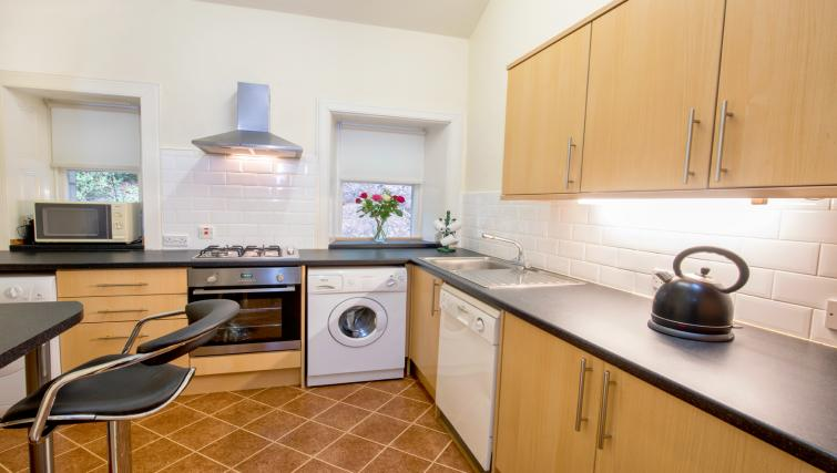 Kitchen at the Pentland Apartment - Citybase Apartments
