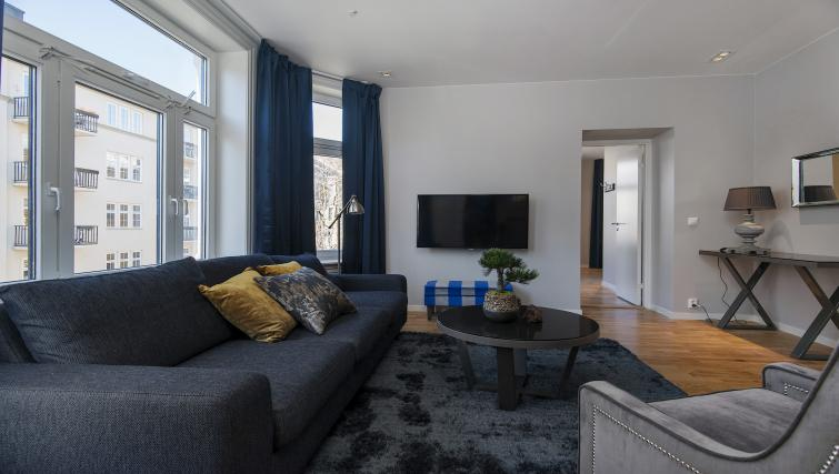 Cosy living room at the Gabelsgate Apartments - Citybase Apartments