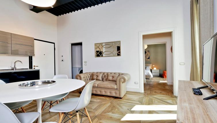 Living space at 10 Del Basilico Apartment - Citybase Apartments