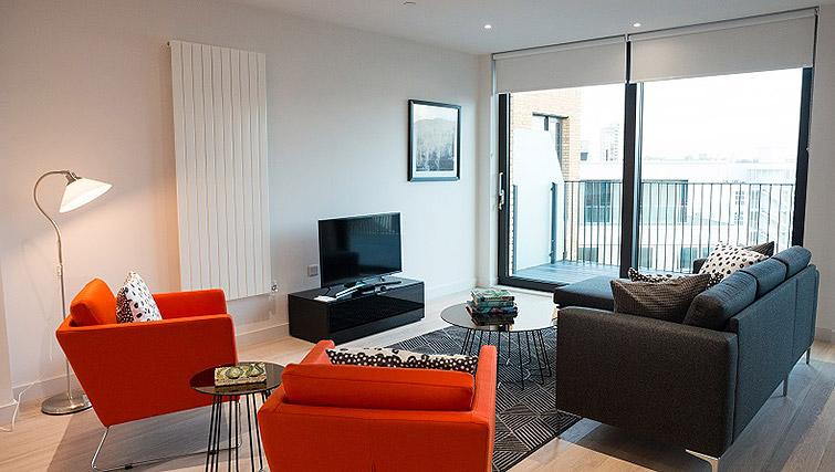 Living space at Clarendon Masthead House - Citybase Apartments