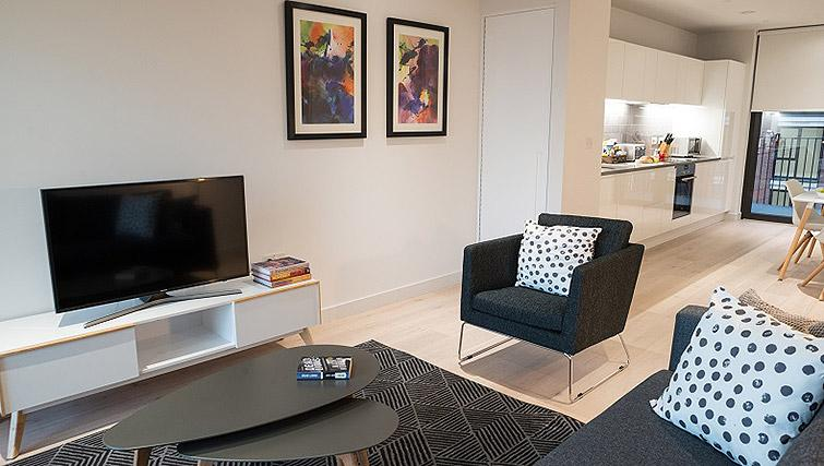 Cosy living space at Clarendon Masthead House - Citybase Apartments