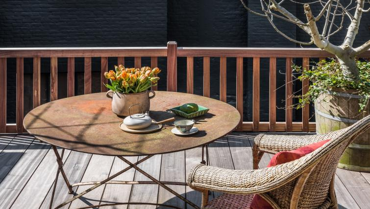 Terrace at the Odevaere Apartment - Citybase Apartments
